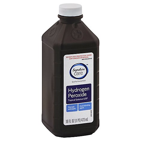 Signature Care Hydrogen Peroxide Topical Solution USP First Aid Antiseptic - 16 Fl. Oz.