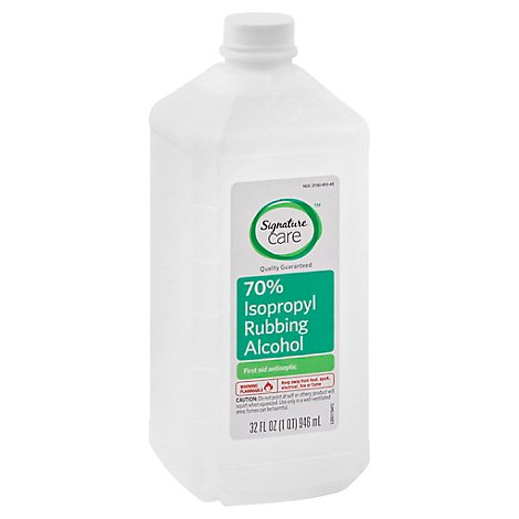 Signature Care Alcohol Isopropyl Rubbing 70% First Aid Antiseptic - 32 Fl. Oz.