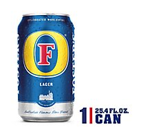 Fosters Beer Lager 5% ABV In Can - 25.4 Fl. Oz.