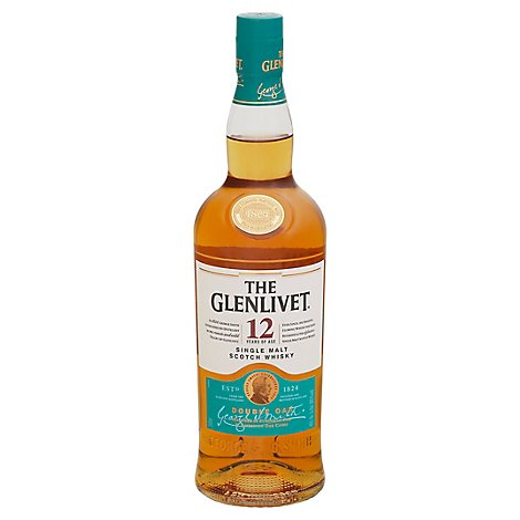 The Glenlivet Scotch Whisky Single Malt 12 Years Of Age 80 Proof - 750 Ml