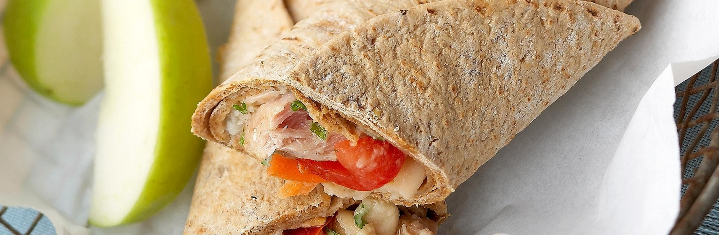 Tuna and White Bean Wraps