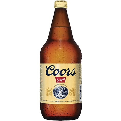Coors Banquet Beer Lager 5% ABV Bottle - 32 Fl. Oz.