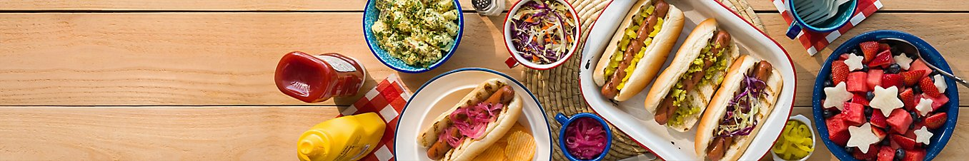 Hot dogs with sides