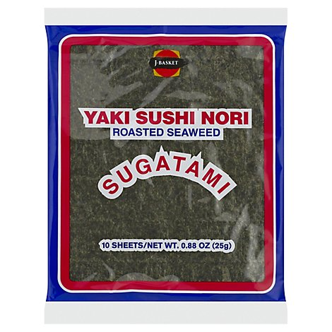 JFC Food Sugatami Yaki Sushi Nori - 10 Count