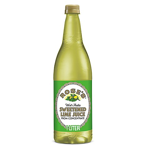 Roses 100% Juice Sweetened Lime West India - 33.8 Fl. Oz.