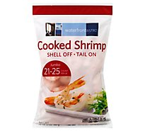 waterfront BISTRO Shrimp Cooked Shell Off Tail On 21 To 25 Count - 32 Oz