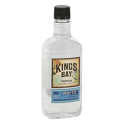 Kings Bay Rum Silver Light 80 Proof Traveler - 750 Ml