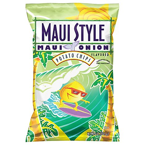 Maui Style Potato Chips Maui Onion Flavored - 6 Oz