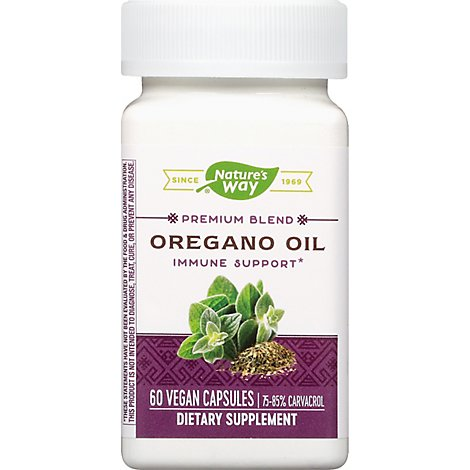 Natures Way Oregano Oil Standardized Liquid V Capsules - 60 Count