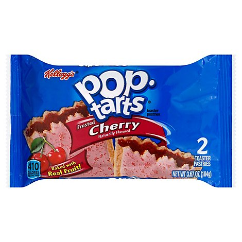 Pop-Tarts Toaster Pastries Frosted Cherry 2 Count - 3.67 Oz