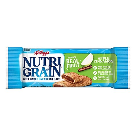 Nutri-Grain Breakfast Bars Soft Baked Apple Cinnamon - 1.3 Oz