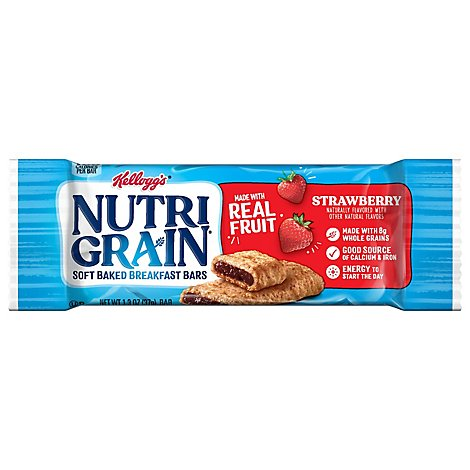 Nutri-Grain Breakfast Bars Soft Baked Strawberry - 1.3 Oz