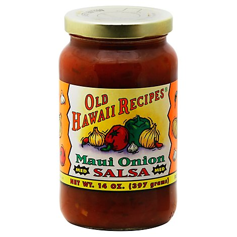 Old Hawaii Recipes Salsa Maui Onion Medium Jar - 14 Oz
