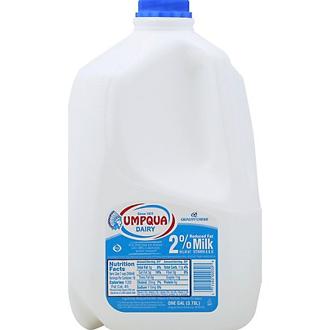 Umpqua Milk Reduced Fat 2% - Gallon