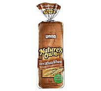 Natures Own 100% Whole Wheat Bread - 20 Oz