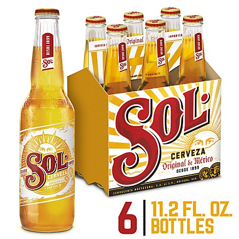 Sol Cerveza Import Beer Mexican 4.5% ABV In Bottles - 6-11.15 Fl. Oz.