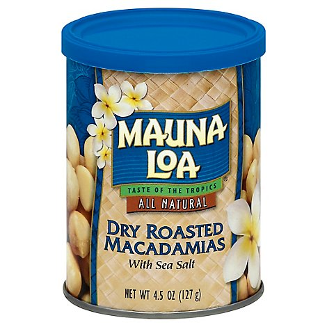 Mauna Loa Macadamias Dry Roasted with Sea Salt - 4.5 Oz