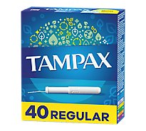 Tampax Tampons Cardboard Regular Absorbency - 40 Count
