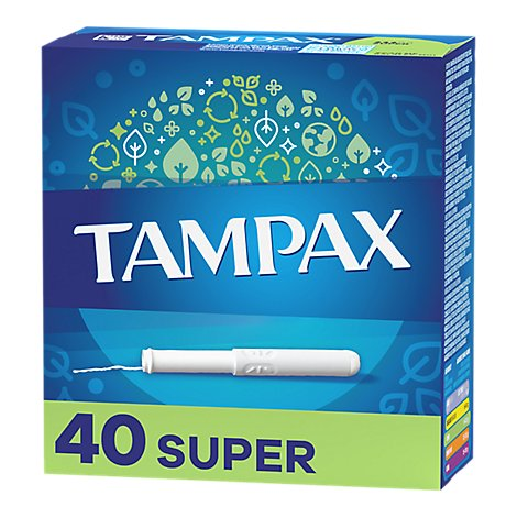 Tampax Tampons Cardboard Super Absorbency - 40 Count