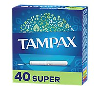 Tampax Tampons Cardboard Applicator Super Absorbency Unscented - 40 Count