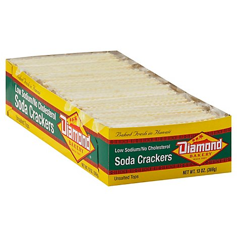 Diamond Bakery Crackers Soda Unsalted Tops - 13 Oz