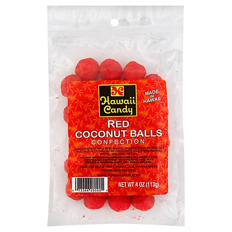 Hawaii Candy Coconut Red Ball - 4 Oz