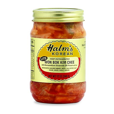 Halms Kim Chee Lite Prepacked - 12 Oz