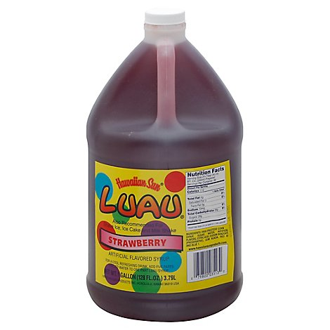 Luau Drink Syrup Strawberry - 128 Fl. Oz.