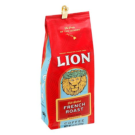 Lion Coffee Auto Drip Grind French Roast Lion French - 10 Oz