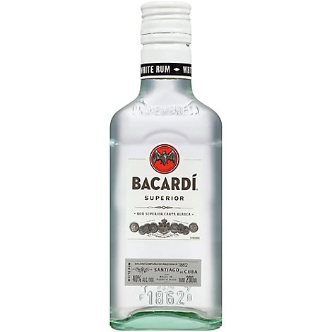 Bacardi Rum Light 80 Proof - 200 Ml