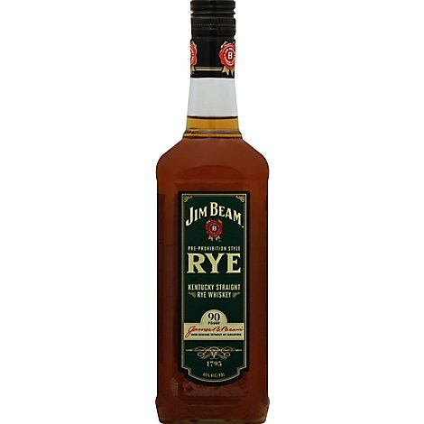 Jim Beam Rye Pre-Prohibition Style Kentucky Straight Rye Whiskey 90 Proof - 750 Ml