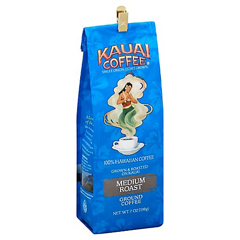 Kauai Coffee Coffee Hawaiian All Purpose Grind Medium Roast Koloa Estate - 7 Oz