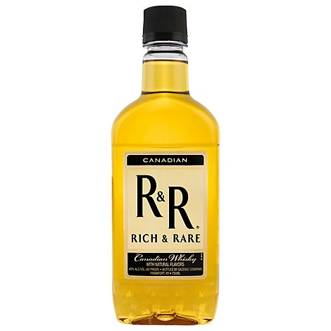 Rich & Rare Canadian Whiskey 80 Proof Plastic - 750 Ml