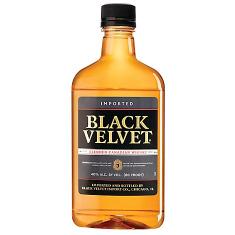 Black Velvet Canadian Whisky Plastic Bottle 80 Proof - 375 Ml