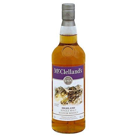 Mcclelland Highland Scotch 80 Proof - 750 Ml