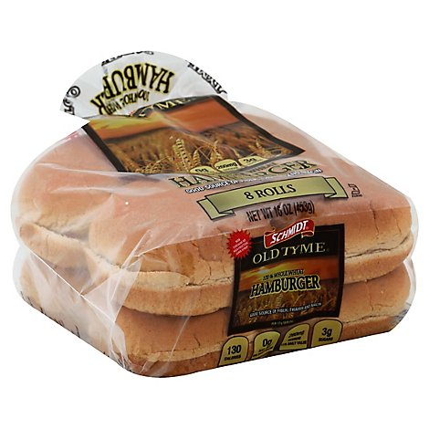 Schmidt Old Tyme Rolls Sandwich 100% Whole Wheat - 15 Oz