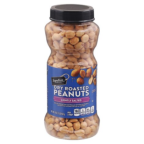 Signature SELECT Peanuts Dry Roasted Lightly Salted - 16 Oz