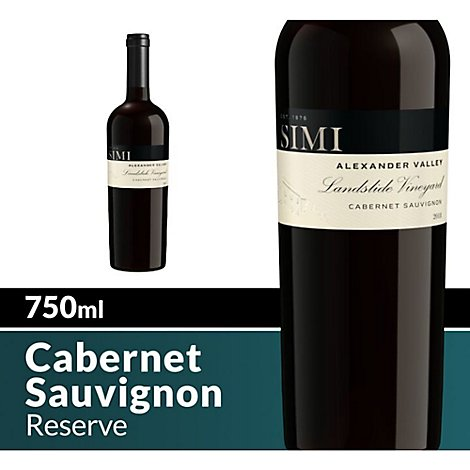 SIMI Landslide Vineyard Wine Red Cabernet Sauvignon Alexander Valley - 750 Ml