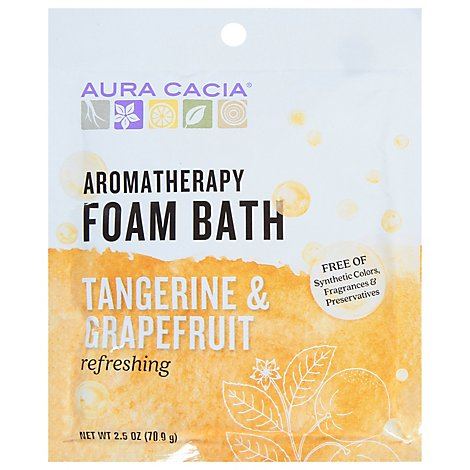Aura Cacia Foam Bubble Bath Tangerine Grapefruit - 2.5 Oz