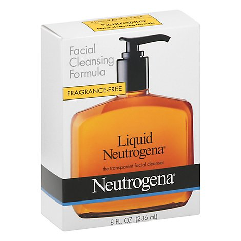 Neutrogena Fragrance Free Liquid Facial Cleansing Soap - 8 Fl. Oz.