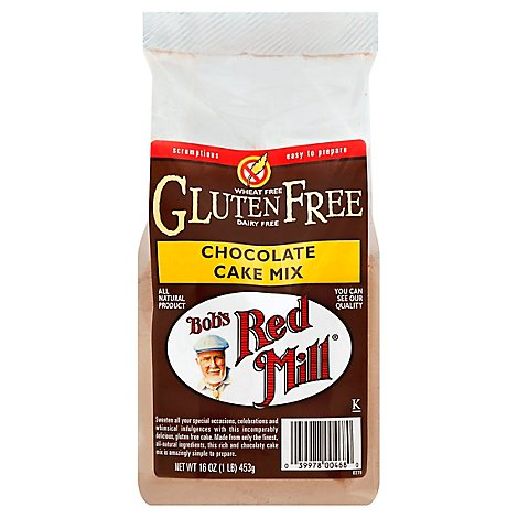 Bobs Red Mill Cake Mix Chocolate Gluten Free - 16 Oz