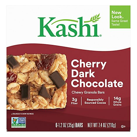 Kashi Chewy Granola Bars Cherry Dark Chocolate Non-GMO Project Verified (6 Count) 7.4 oz