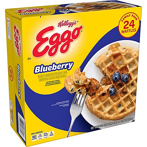 Eggo Frozen Waffles Blueberry Family Pack - 29.6 Oz