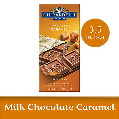 Ghirardelli Chocolate Milk Chocolate Caramel - 3.5 Oz