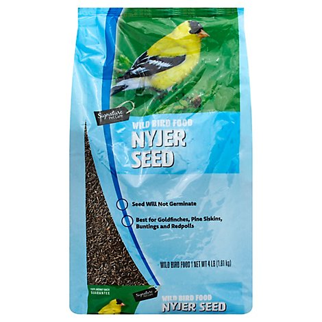 Signature Pet Care Wild Bird Food Premium Thistle Niger Seed - 4 Lb