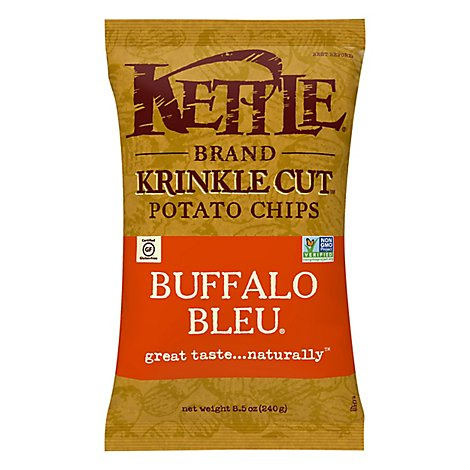 Kettle Potato Chips Krinkle Cut Buffalo Bleu Sharing Size - 8.5 Oz