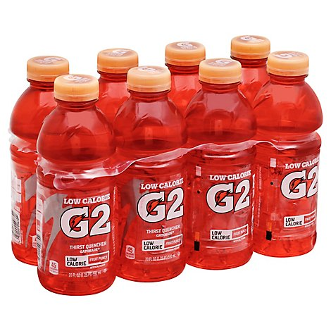 Gatorade G2 Thirst Quencher Perform 02 Low Calorie Fruit Punch - 8-20 Fl. Oz.