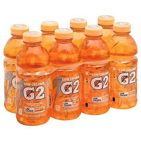 Gatorade G2 Thirst Quencher Perform 02 Low Calorie Orange - 8-20 Fl. Oz.