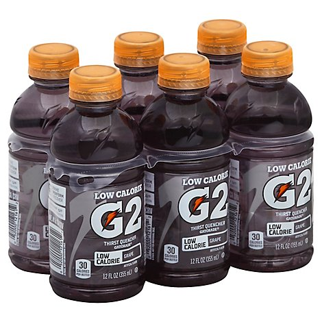Gatorade G2 Thirst Quencher Low Calorie Grape - 6-12 Fl. Oz.