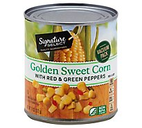 Signature SELECT Corn Golden Sweet with Red & Green Peppers Can - 11 Oz